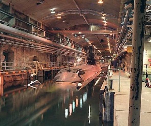 скальные укрытия подводных лодок