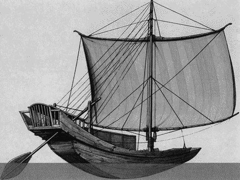 рисунки древней лодки
