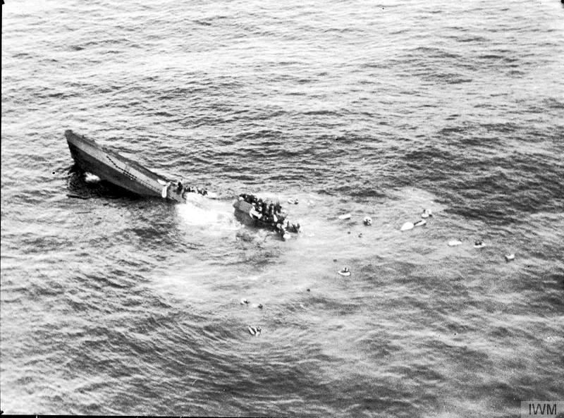 затонувшая лодка немцев