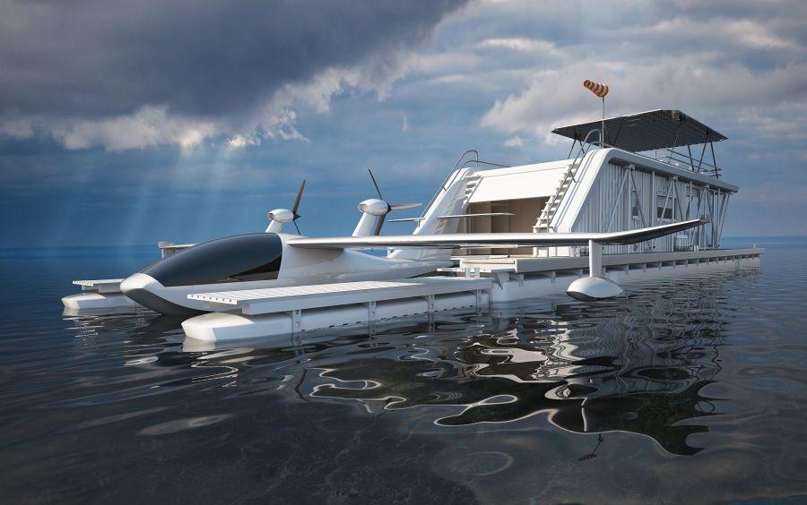 Три в одном: плавучий дом, пристань для лодок и парковка для гидроплана рекомендации